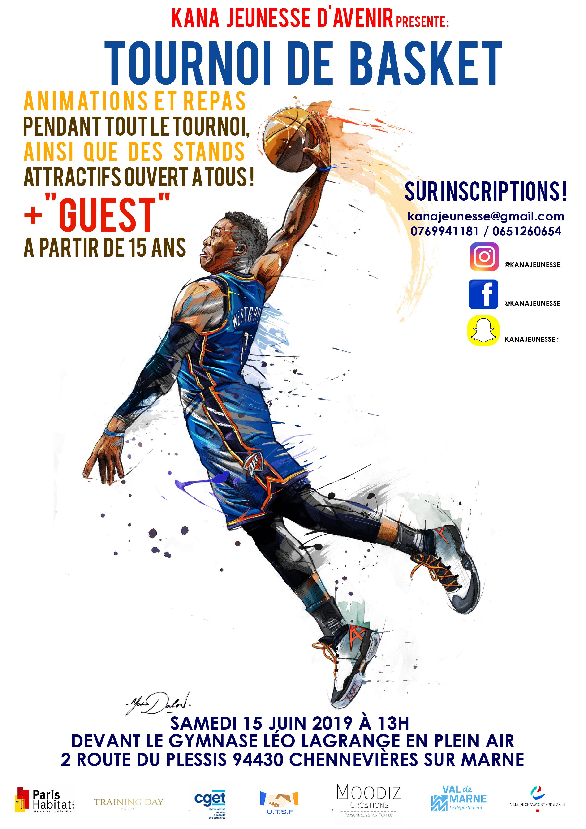 Tournoi de basket, repas, animations et stands